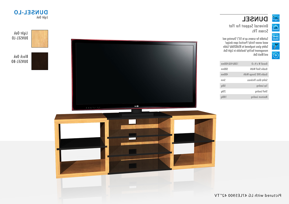 Light Oak Tv Stands Flat Screen Within Most Recent Alphason – Dunsel Tv Stand On Behance (View 13 of 20)