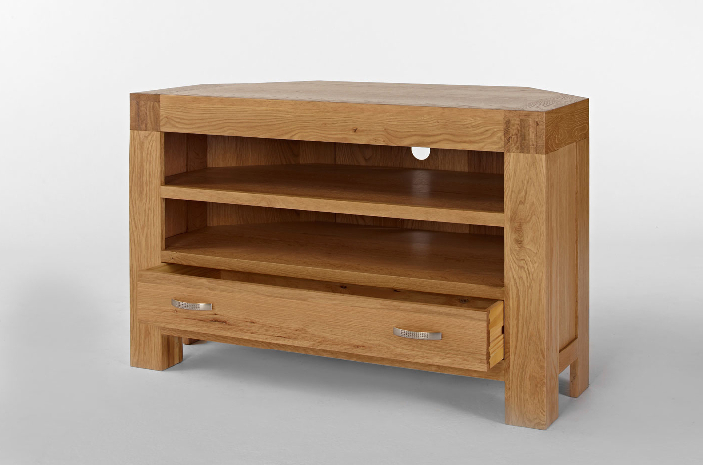 Light Santana Oak From Big Blu Uk Within Light Oak Corner Tv Cabinets (View 11 of 20)