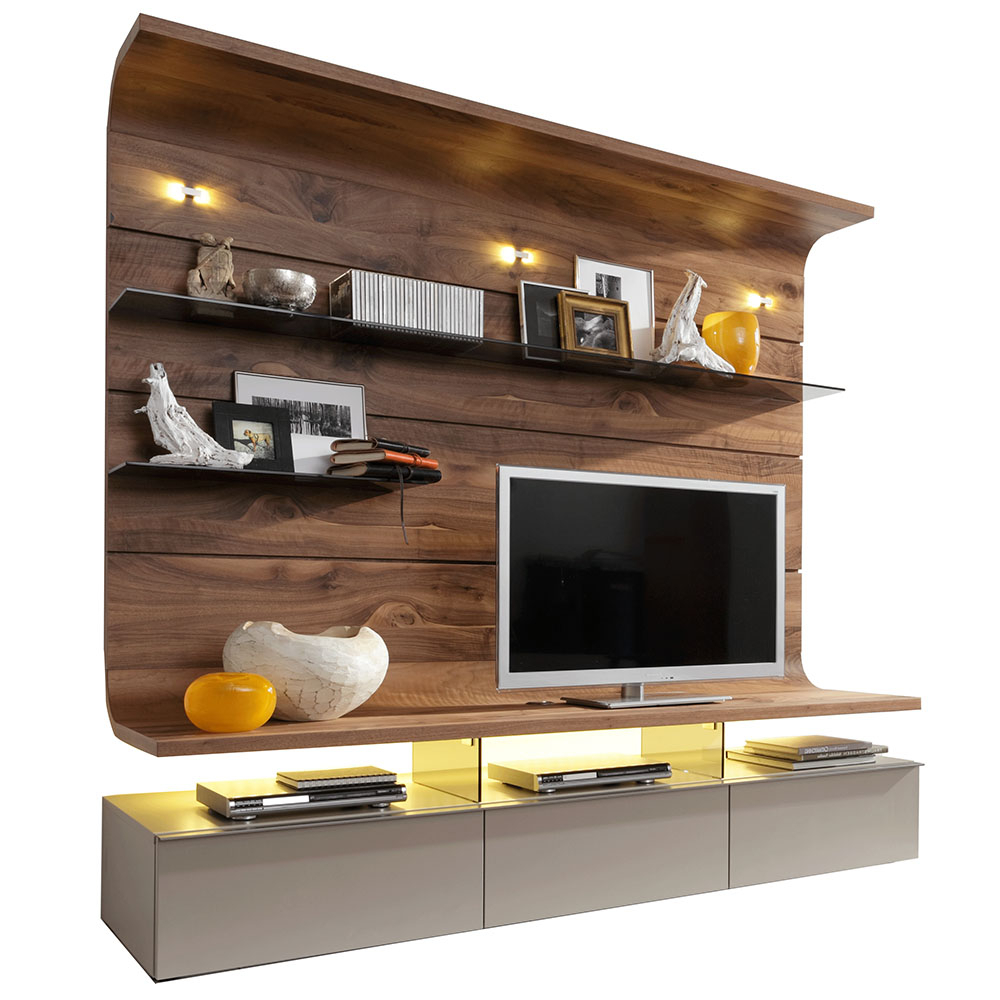 Living Room For On The Wall Tv Units (View 7 of 20)