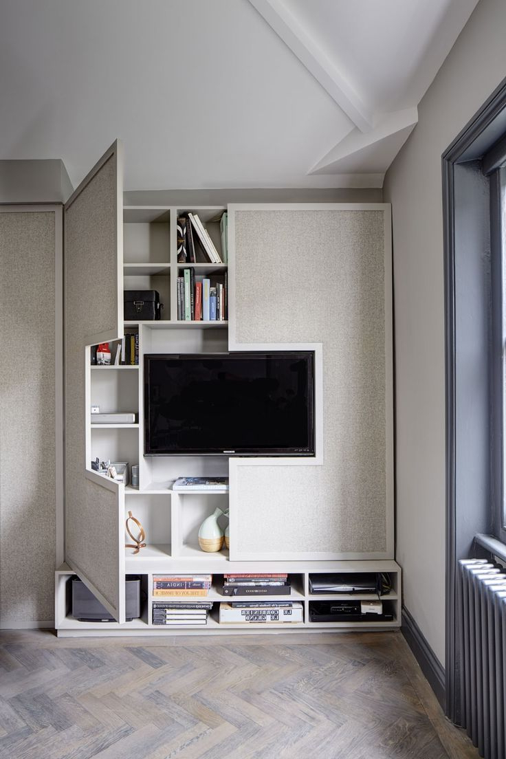 Living Room Tv Cabinets Throughout Well Liked High Style, Low Budget In This 750 Square Foot English Flat (Gallery 16 of 20)