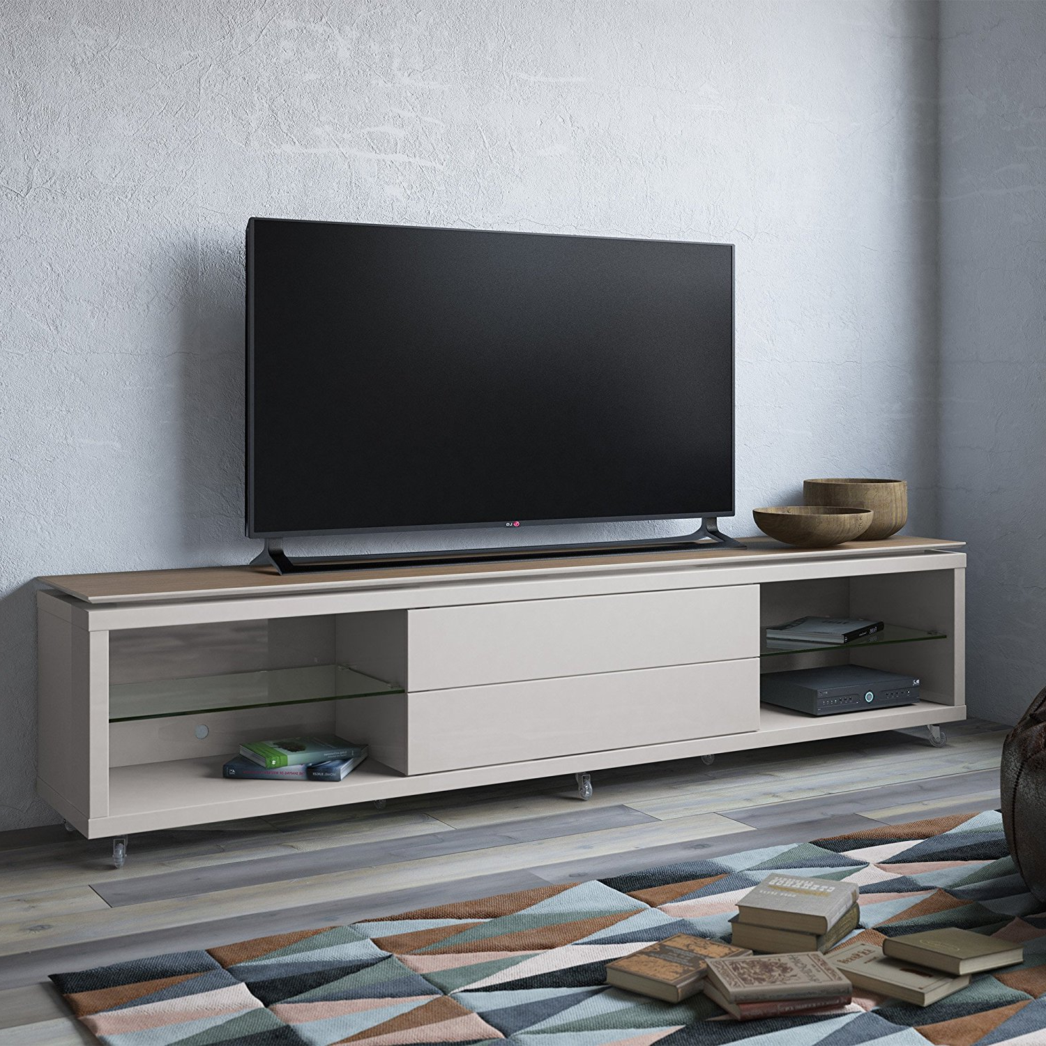 Living Spaces Throughout Most Popular Annabelle Blue 70 Inch Tv Stands (View 15 of 20)