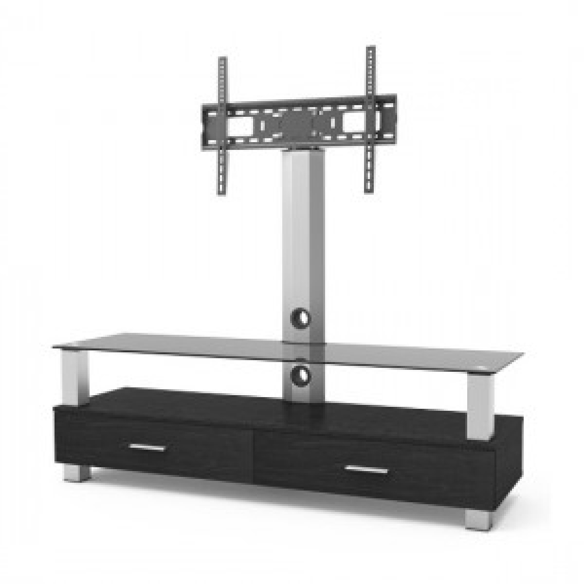 Lk 203L Wood Glass Tv Stand Swivel – Stands And Furniture Inside Trendy Swivel Black Glass Tv Stands (Gallery 9 of 20)