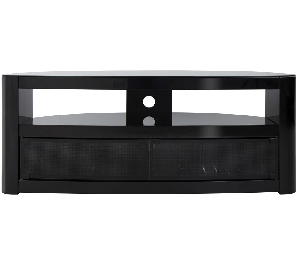 Long Black Tv Stands Within Most Current Buy Avf Burghley 1250 Mm Tv Stand – Black (View 12 of 20)