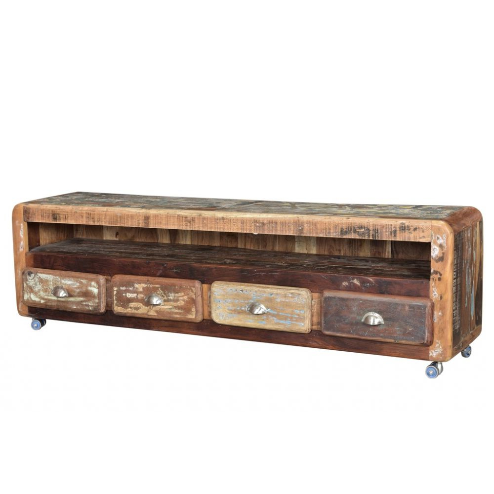 Long Low Tv Stands Intended For Well Known Long And Low Tv Stand • Modern Wood Cabinet Recycled • Retro (View 12 of 20)