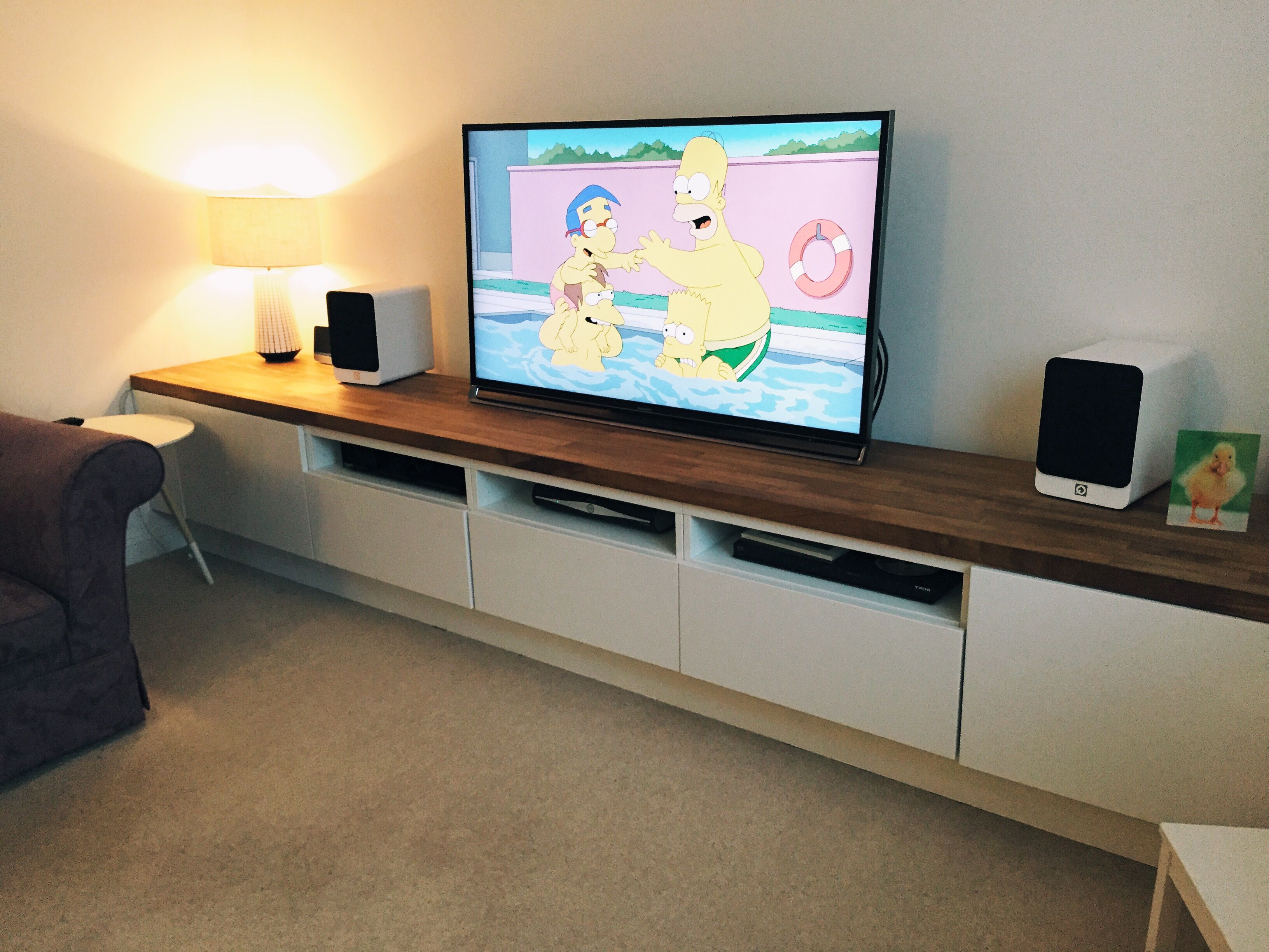 Long Tv Unit. Custom Built Ikea Hack Using Besta Units On Bespoke Inside Recent Long Tv Cabinets Furniture (Gallery 2 of 20)