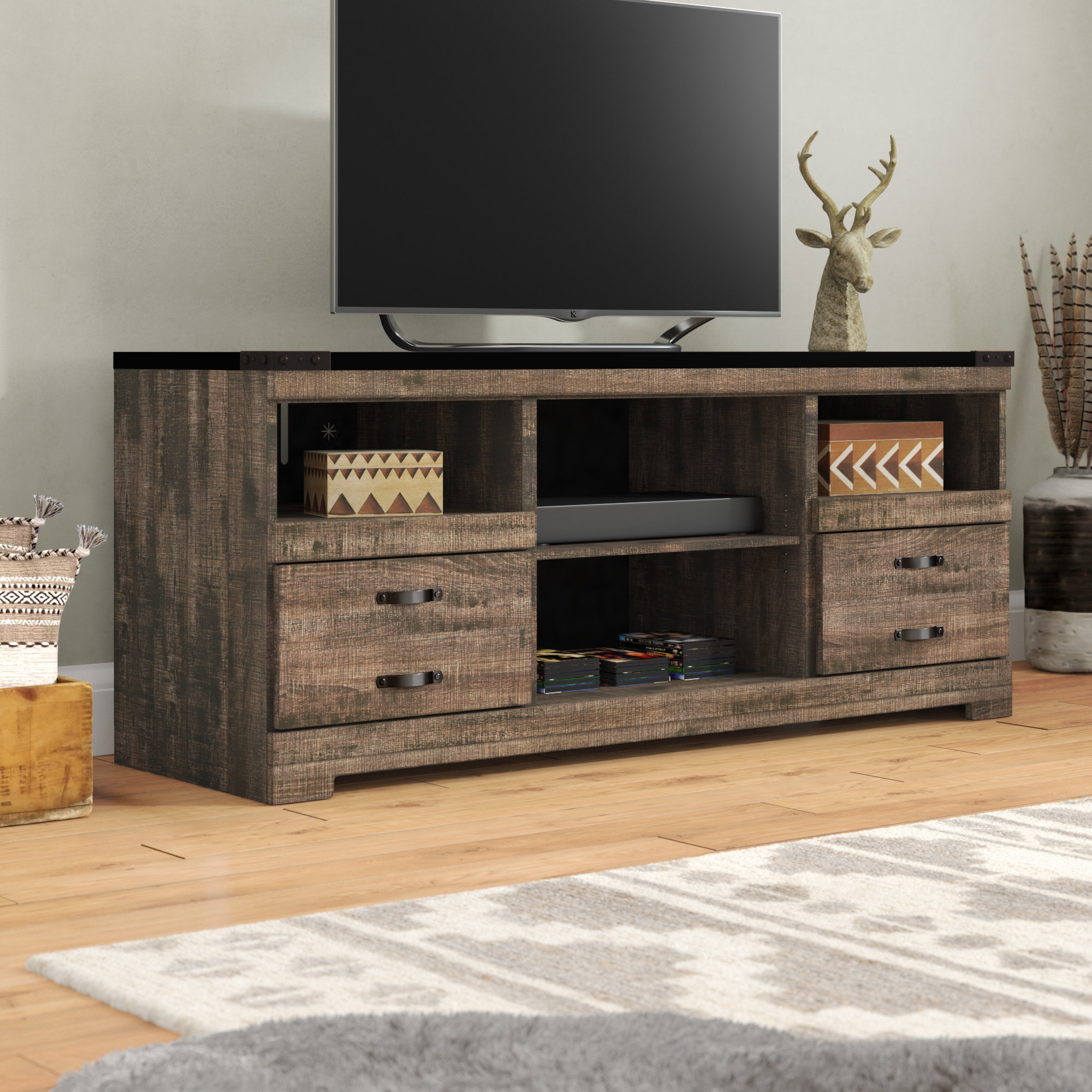 """Loon Peak Gage Tv Stand For Tvs Up To 60"""" & Reviews (View 9 of 20)"""