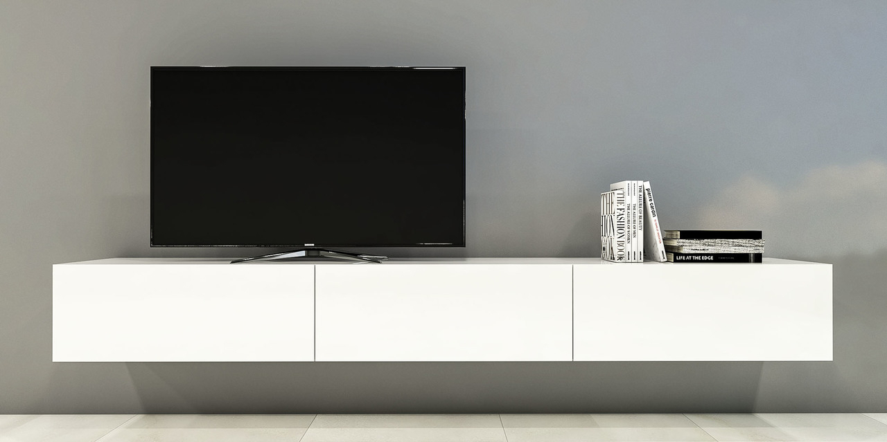 Low Level Tv Storage Units Intended For Most Popular Low Level Tv Storage Units And Floating Tv Units (View 3 of 20)