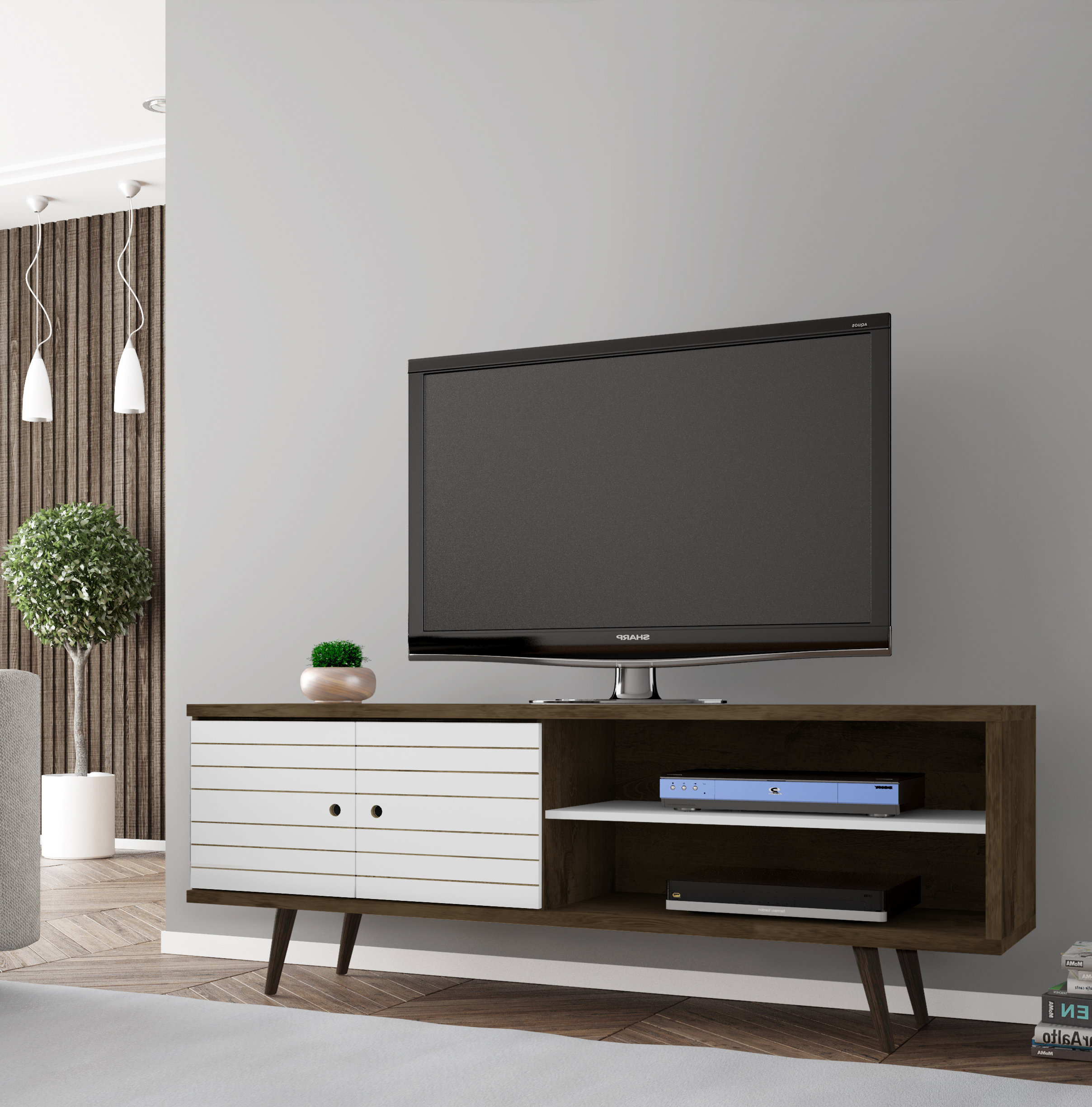 Low Profile Contemporary Tv Stands With Most Popular White Tv Stands You'll Love (Gallery 14 of 20)