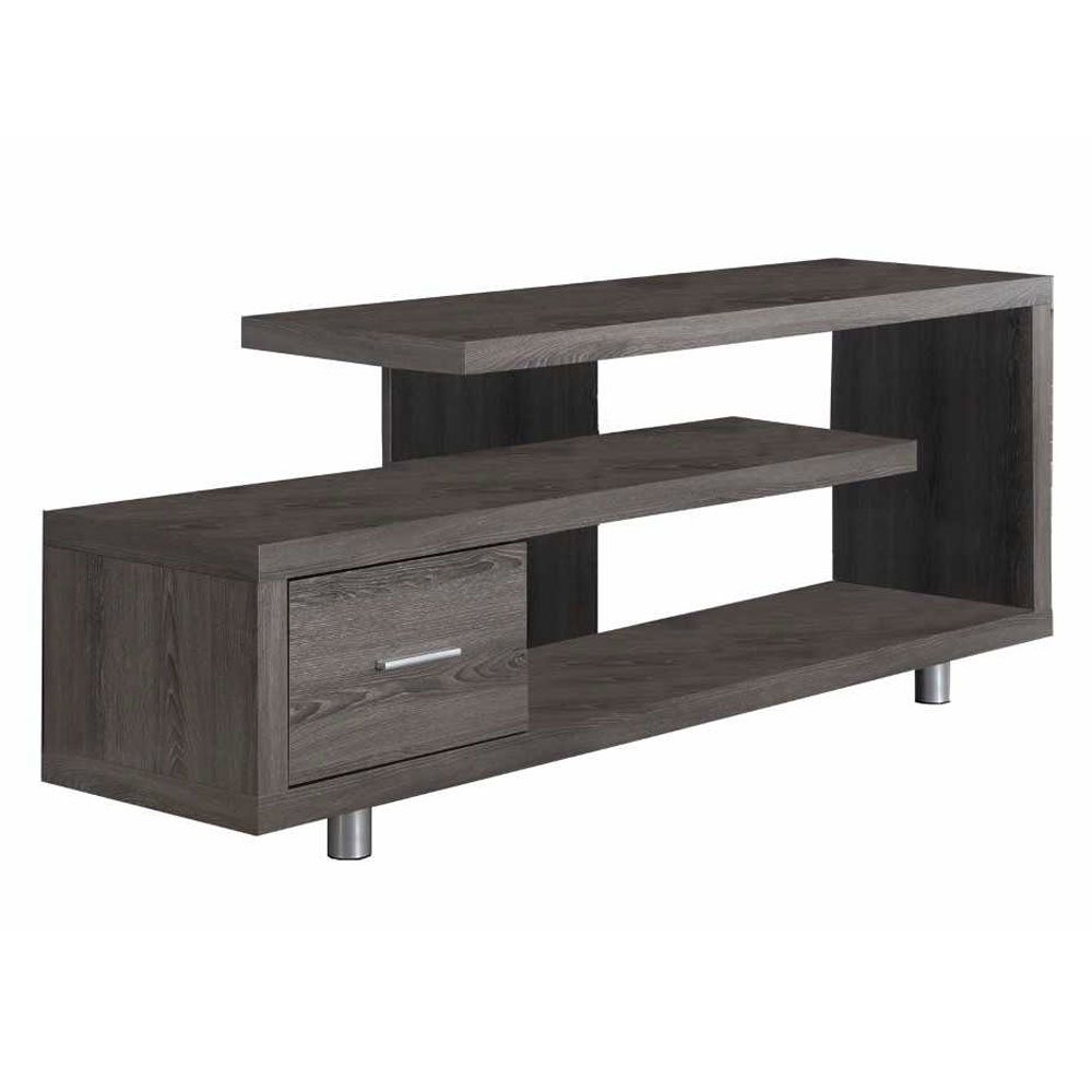"Maddy 60 Inch Tv Stands Within Most Recent Monarch Tv Stand White With 1 Drawer For Tvs Up To 47""l – Walmart (Gallery 15 of 20)"