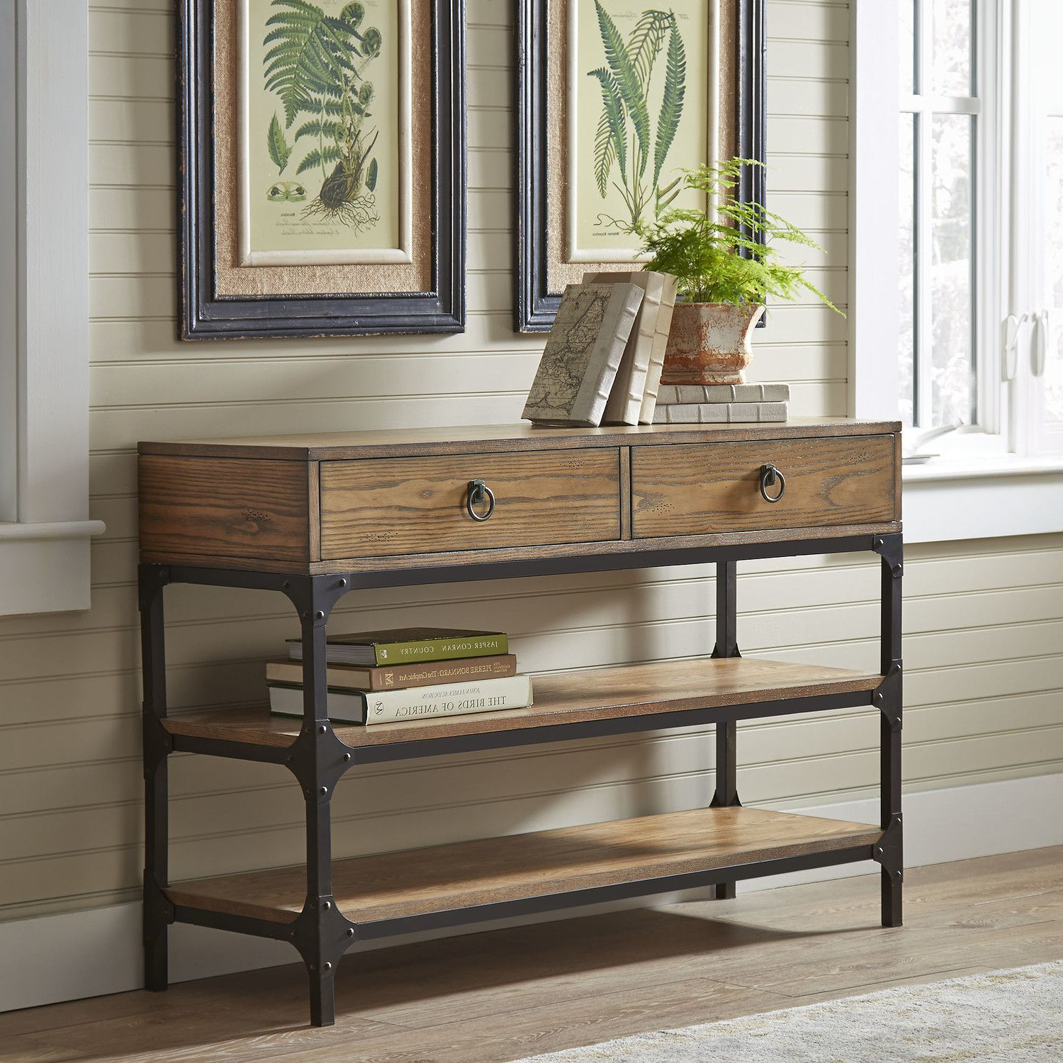 Made With Ash Veneers And A Rustic Metal With Regard To Tobias Media Console Tables (Gallery 10 of 20)