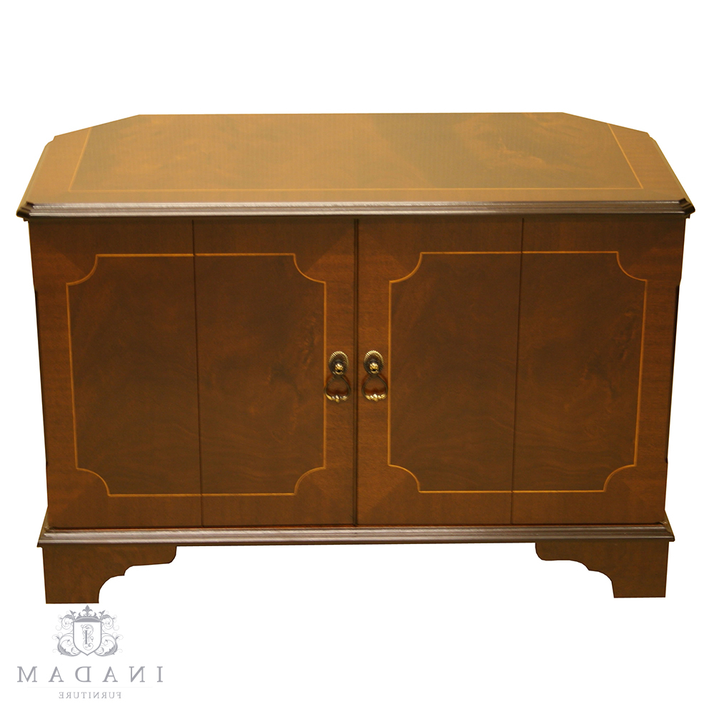 Mahogany Corner Tv Stands Inside Best And Newest Inadam Furniture – Corner Tv Cabinet – In Mahogany/yew/oak/walnut (Gallery 9 of 20)