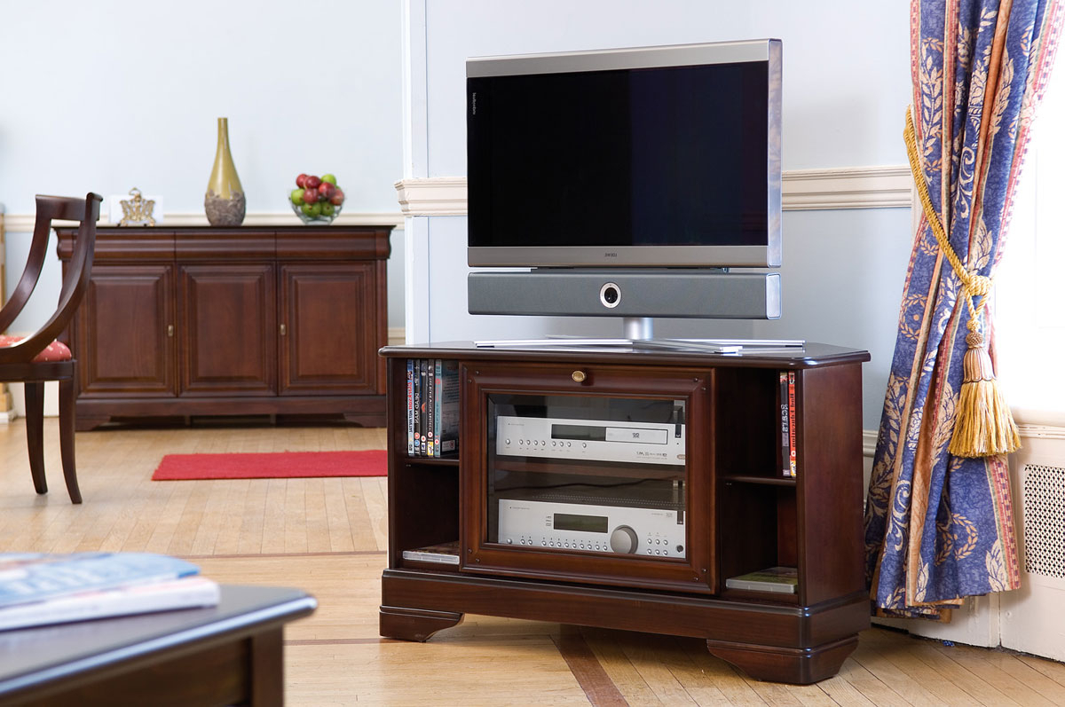 Mahogany Tv Cabinets With Famous Mahogany Tv Stand Tikamoon Cabinets Meuble Bois Metal Samsung Smart (View 3 of 20)