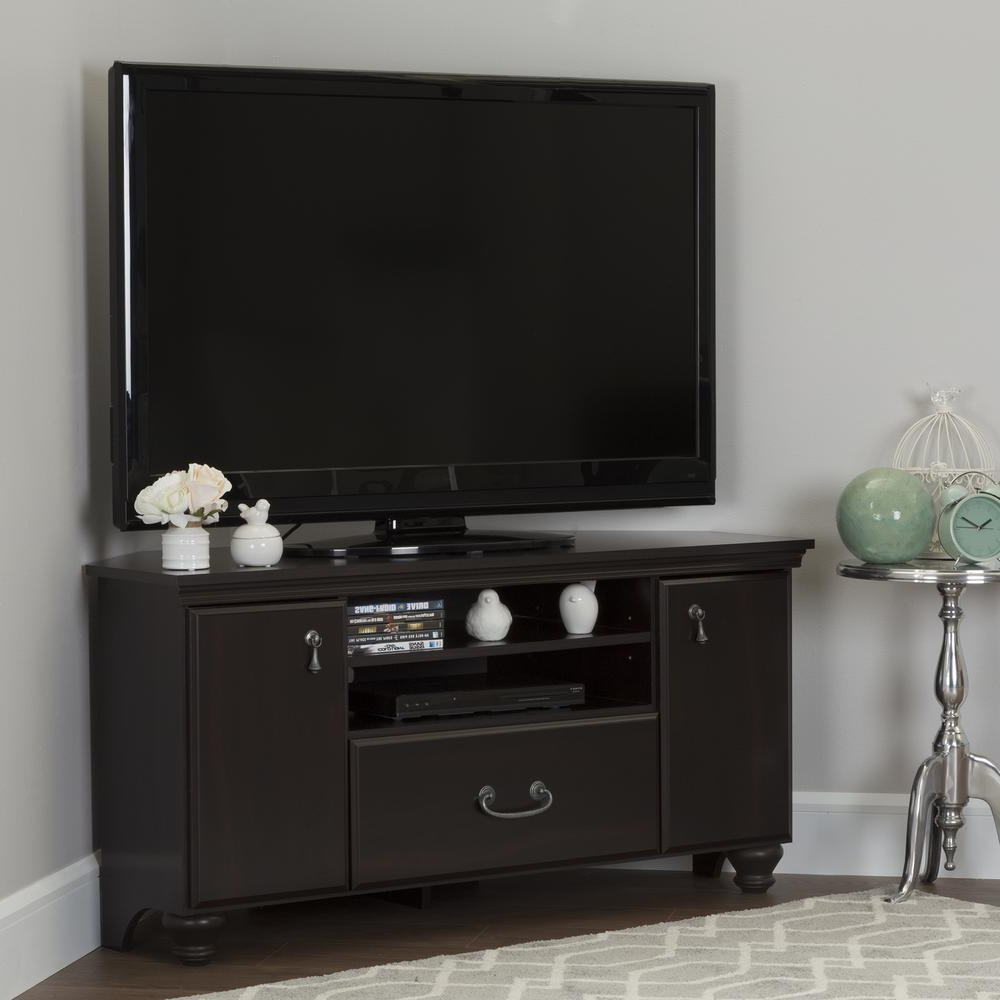 Mahogany Tv Stands In Well Liked South Shore Noble Dark Mahogany Storage Entertainment Center  (View 8 of 20)