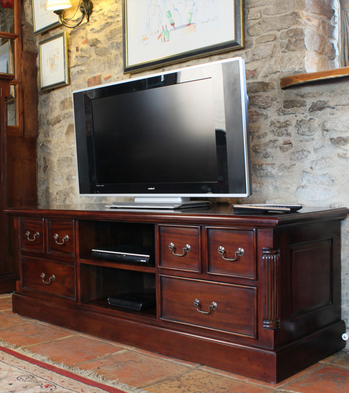 Mahogany Widescreen Television Cabinet Was £780.00 Now £ (View 13 of 20)