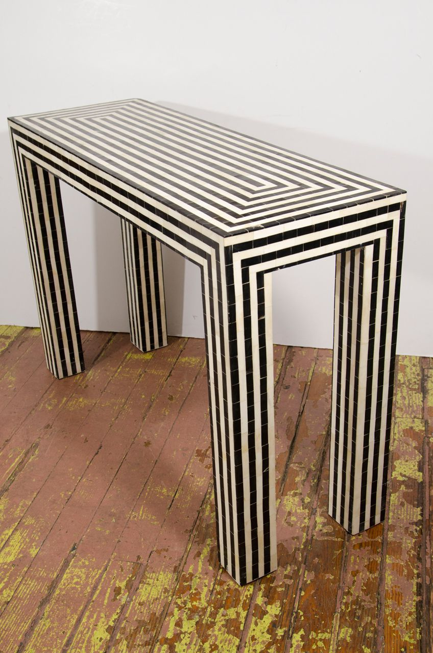 Mājoklis For Famous Black And White Inlay Console Tables (View 11 of 20)
