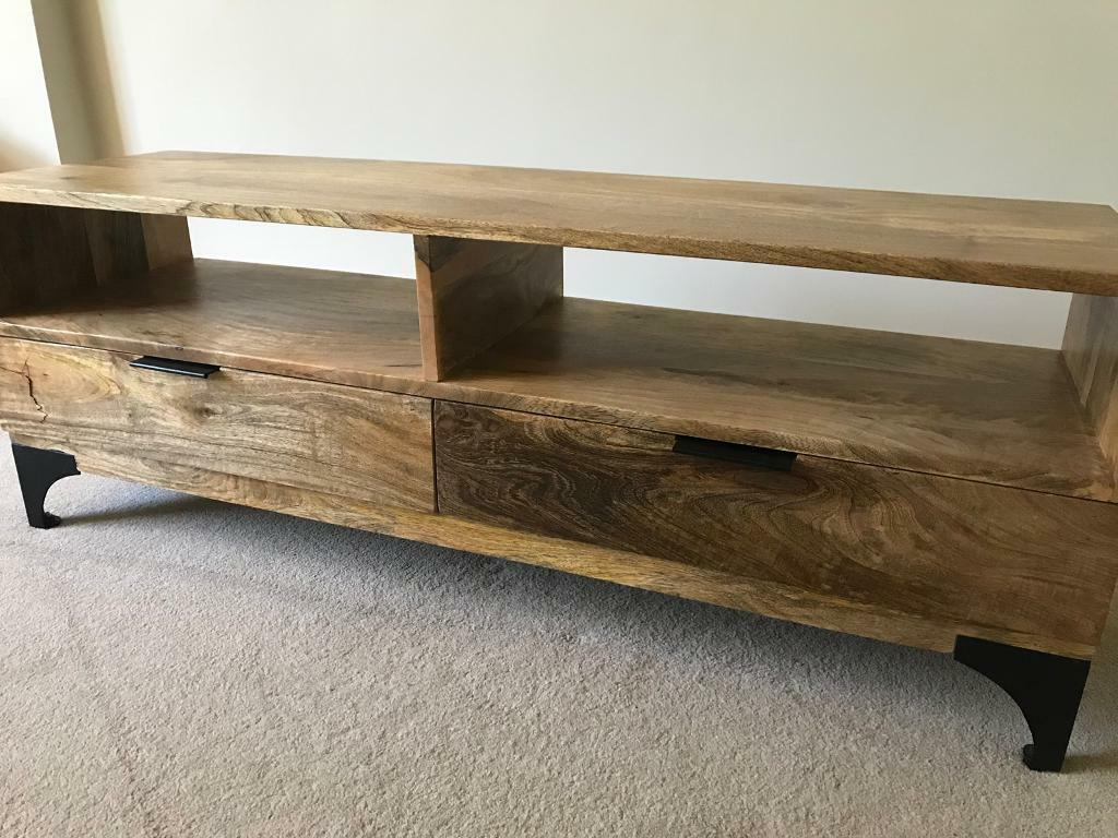 Mango Tv Stands Regarding Most Recently Released Brand New – Solid Mango Wood Tv Stand (View 11 of 20)