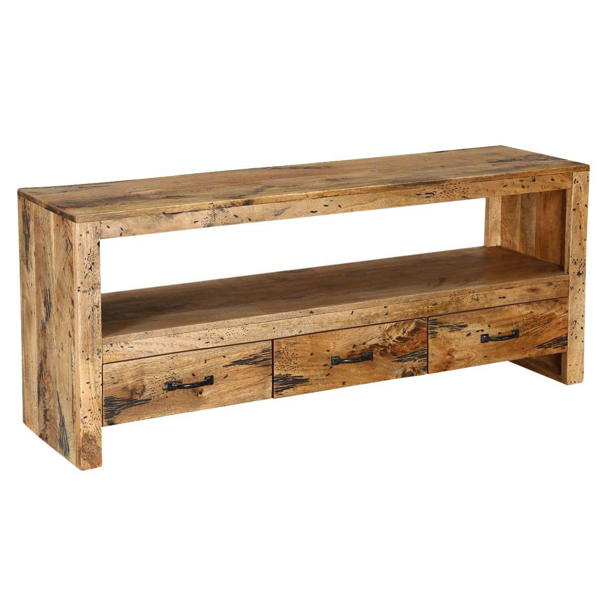 "Mango Tv Stands Throughout Famous Virginia Smart Handcrafted Mango Wood 57"" Wide Rustic Tv Stand (Gallery 6 of 20)"