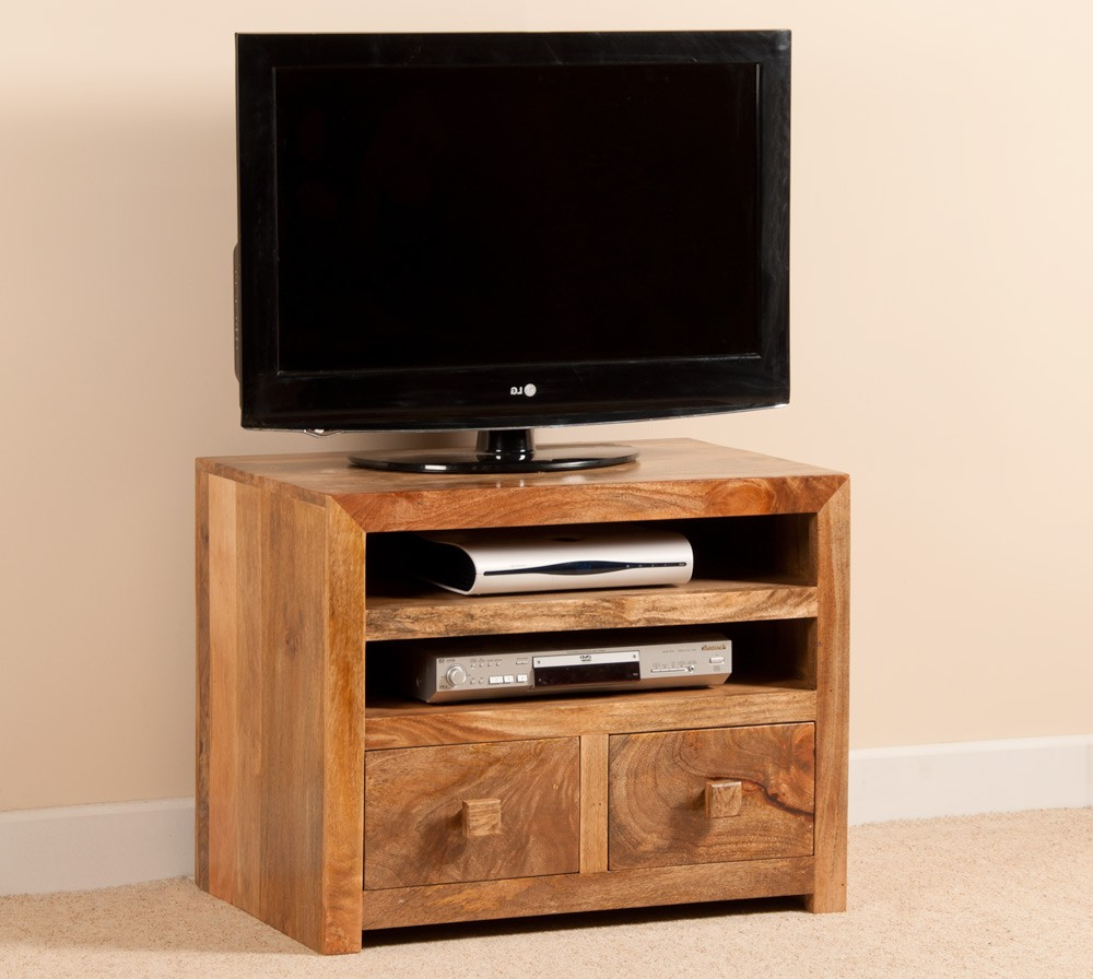 Mango Tv Units For Popular Mango Indian Wood Small Tv Stand 32 Unit Casa Bella Furniture Dakota (View 12 of 20)