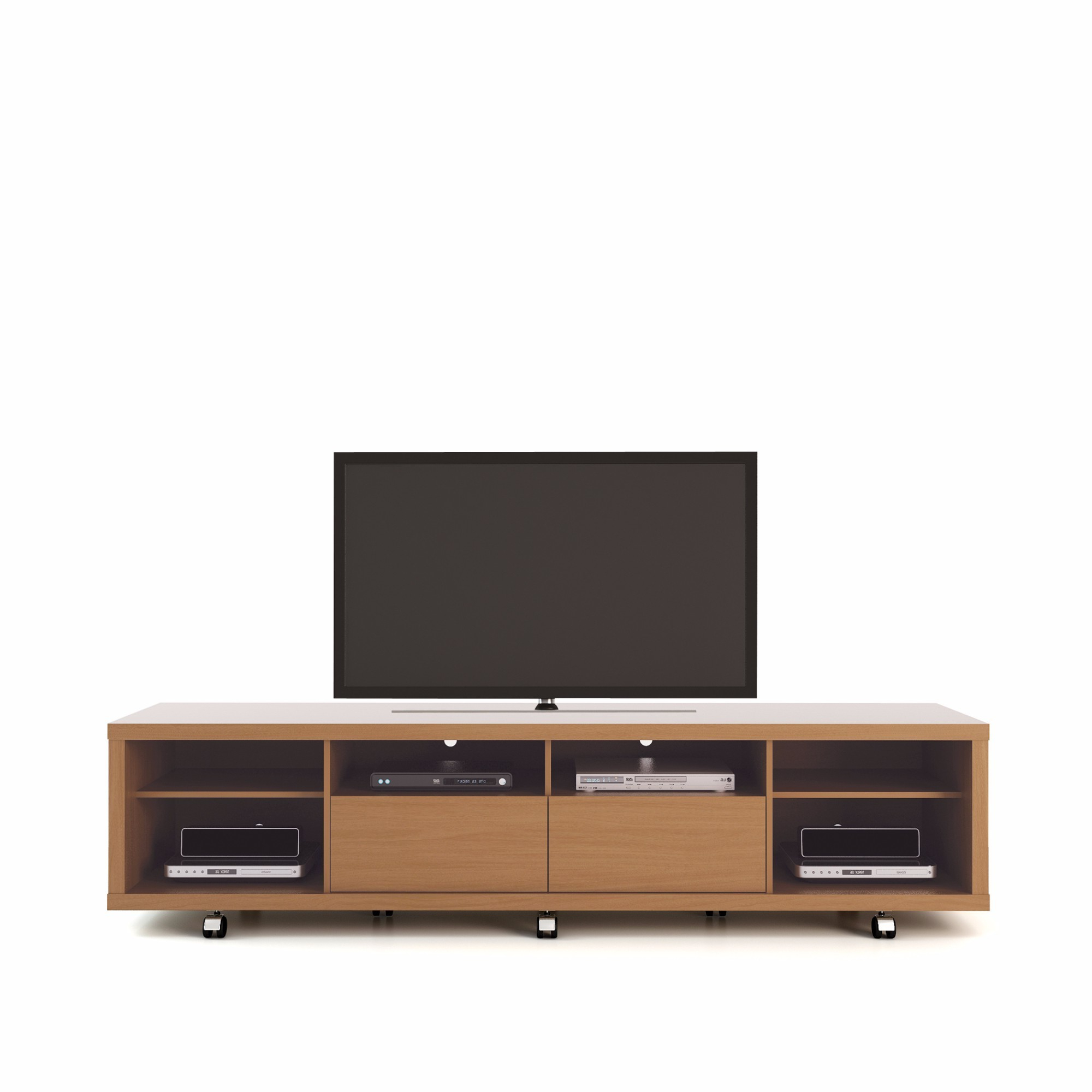 Maple Tv Stands For Flat Screens Inside Newest Shop Manhattan Comfort Cabrini Maple Cream/ Off White  (View 10 of 20)