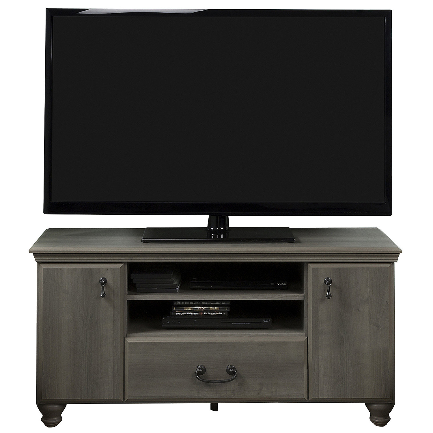 Maple Tv Stands For Flat Screens Regarding Well Liked Akira Gray Maple Tv Stand (View 11 of 20)