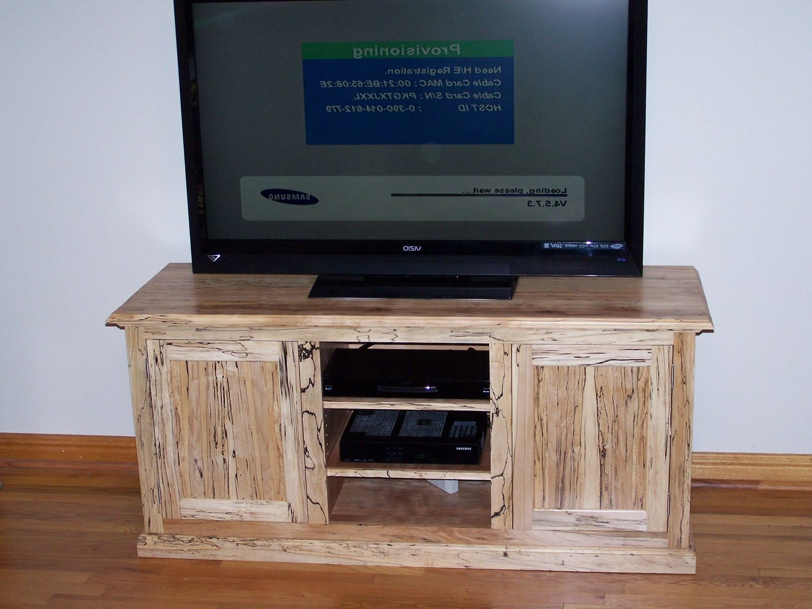 Maple Tv Stands Throughout 2018 Solid Maple Tv Stand Light Oak Honey With Media Storage Sauder (View 6 of 20)