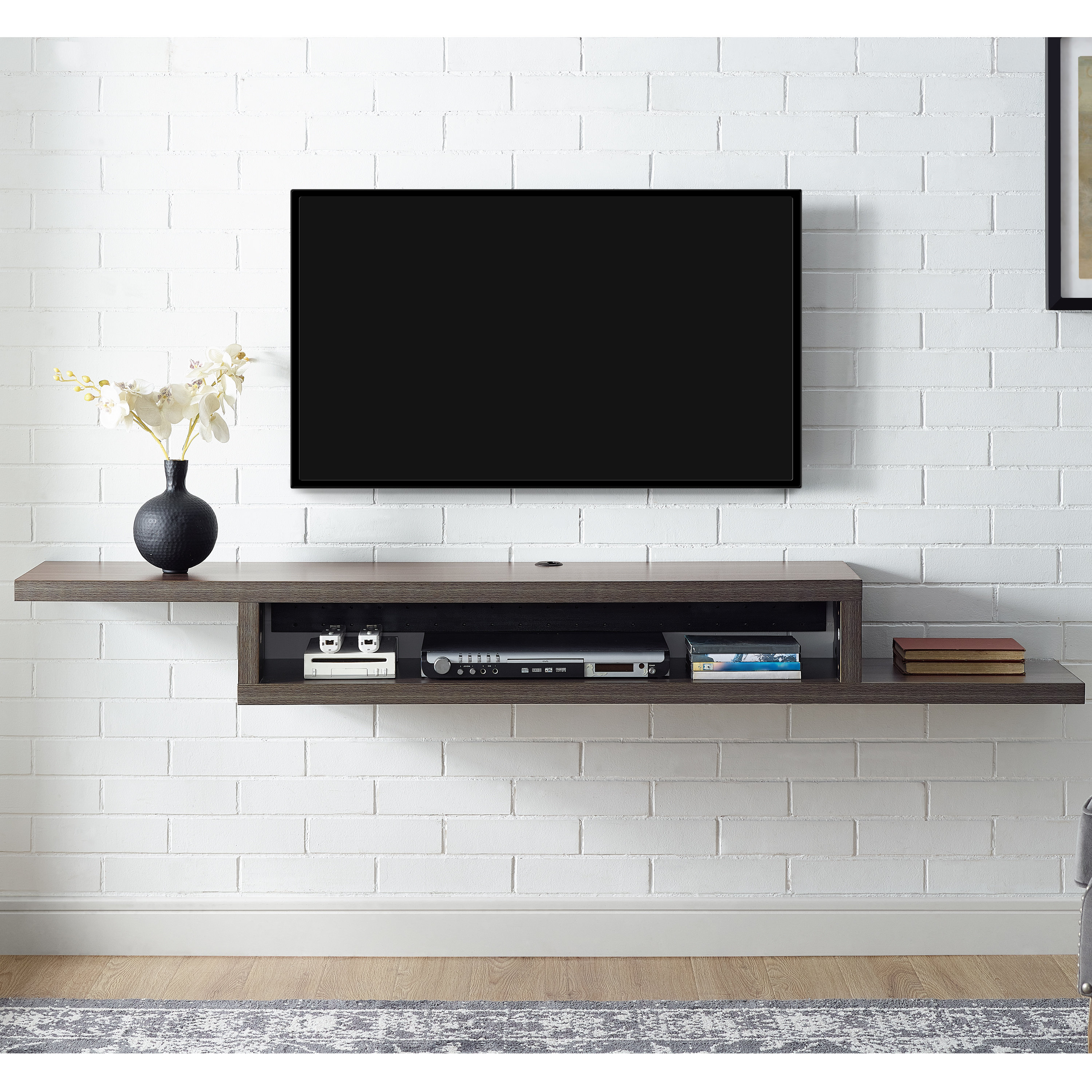 "Martin Home Furnishings Ascend 60"" Asymmetrical Wall Mounted Tv Regarding Favorite Wall Mounted Tv Racks (View 6 of 20)"