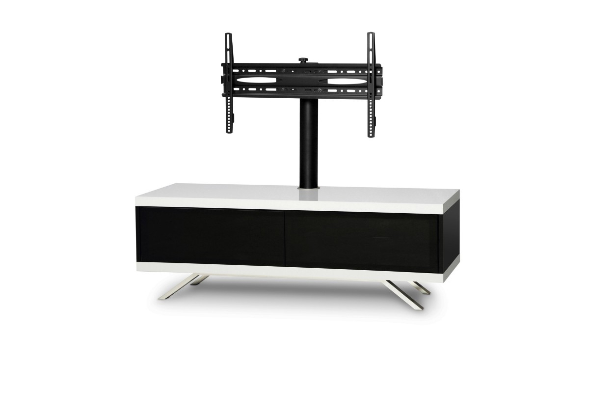 "Mda Designs Tucana Hybrid Cantilever Tv Stand For Upto 60"" Tvs – White Intended For Best And Newest White Cantilever Tv Stands (View 3 of 20)"