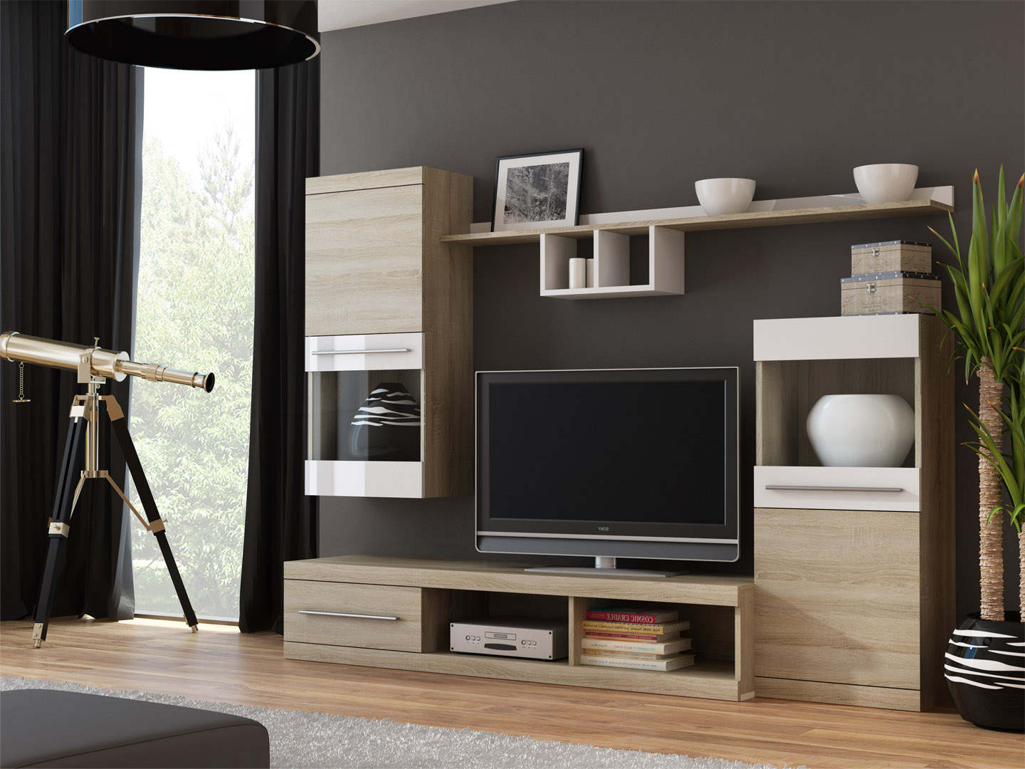Merida 1 – Entertainment Center For 60 Inch Tv / Modern Tv Wall Unit Throughout Most Up To Date 60 Inch Tv Wall Units (View 14 of 20)