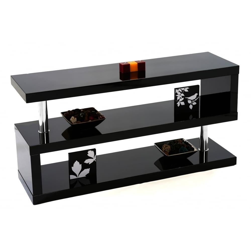 Mfs Furniture Miami Black Gloss Tv Stand – Mfs Furniture From Regarding Latest Red Gloss Tv Stands (View 5 of 20)