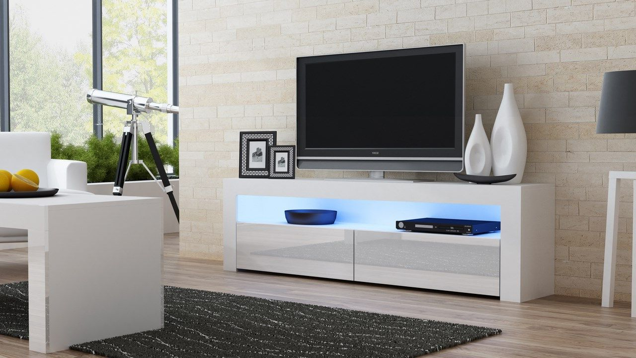 Milano 157 Classic – White Gloss Tv Stand (Gallery 5 of 20)