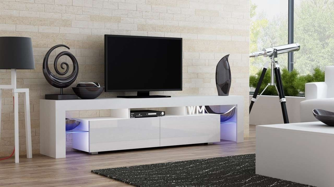 Milano 200 Width Modern Tv Stand Concept Muebles Intended For Style Intended For Most Popular Modern Style Tv Stands (View 13 of 20)