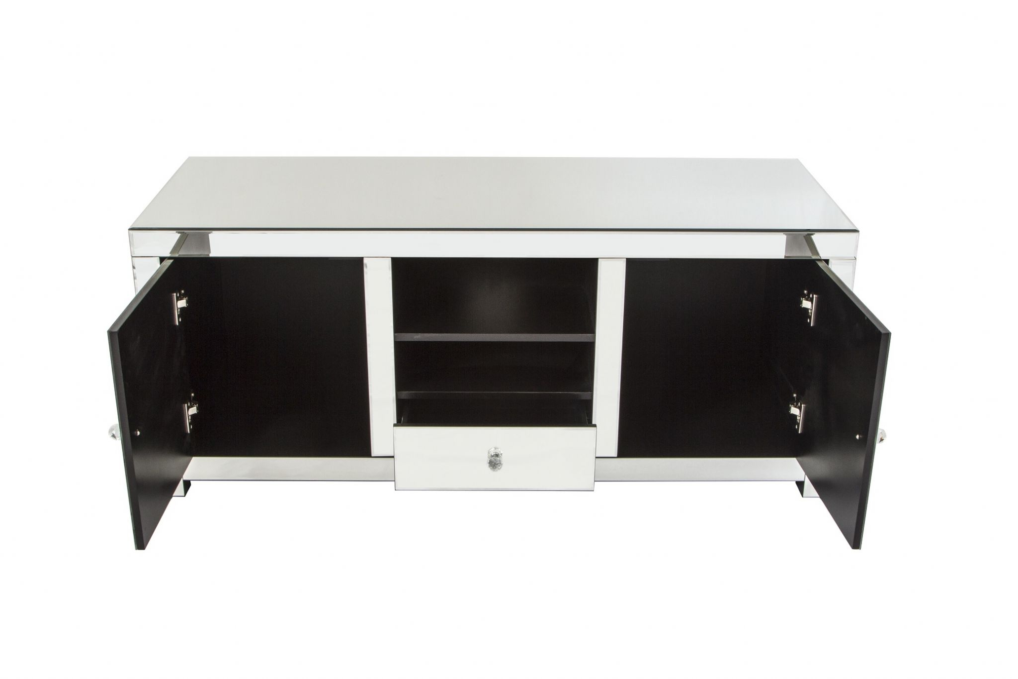 Mirrored Contemporary Furniture – Mirrored Tv Entertainment Unit With Regard To Most Popular Mirrored Furniture Tv Unit (View 11 of 20)