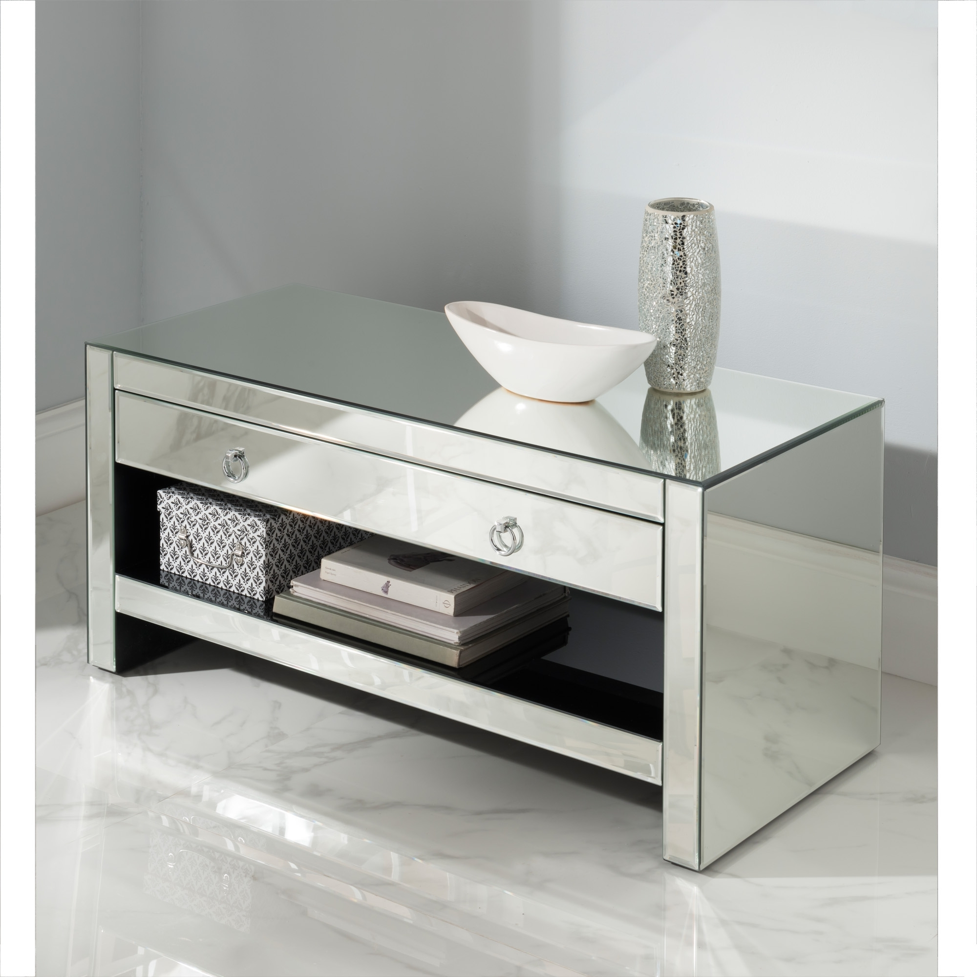 Mirrored Tv Cabinets Furniture With Regard To Trendy Mirrored Tv Cabinet (View 3 of 20)
