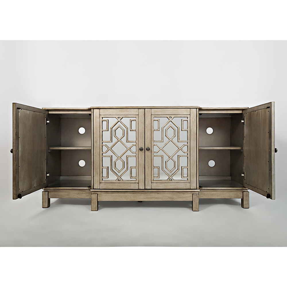 Mirrored Tv Stands Regarding Most Recent White Mirrored Tv Stand Cabinet Living Room Furniture – Buyouapp (View 16 of 20)