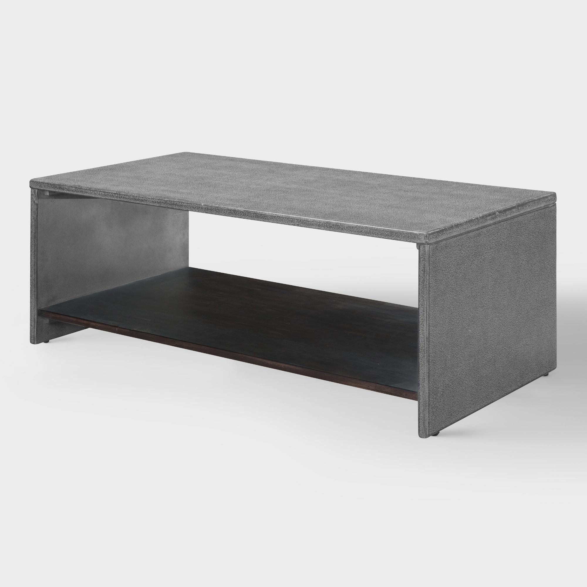 Mix Leather Imprint Tall Metal Frame Side Table In (View 6 of 20)