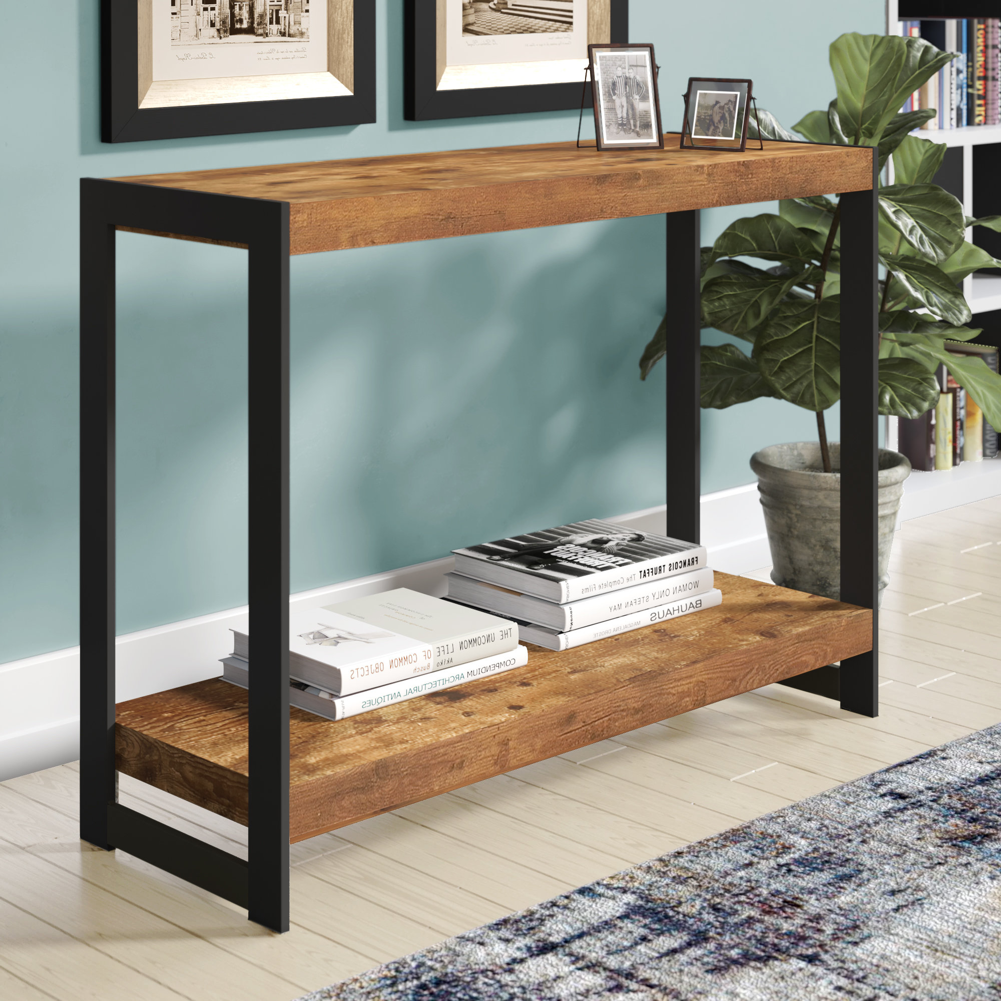 Mix Patina Metal Frame Console Tables With Regard To Well Liked Industrial Console Tables You'll Love (View 4 of 20)