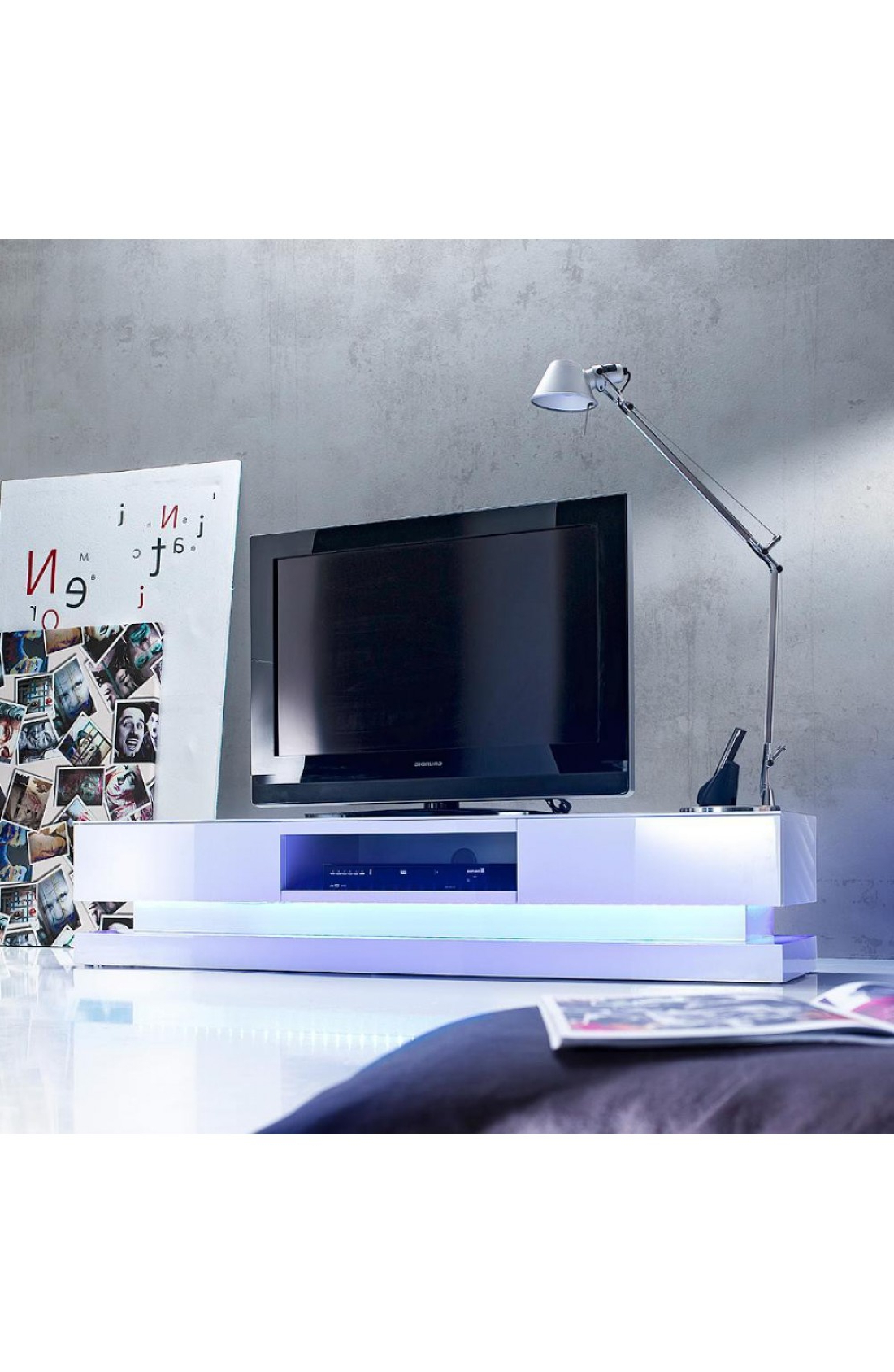 Modanuvo Modern White High Gloss Tv Unit Cabinet Stand Lowboard Rgb Pertaining To Famous White Gloss Tv Cabinets (View 7 of 20)