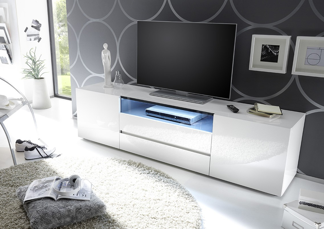 Modern And Stylish Tv Stands, Tv Cabients At Conceptmuebles Regarding Latest Glossy White Tv Stands (View 9 of 20)
