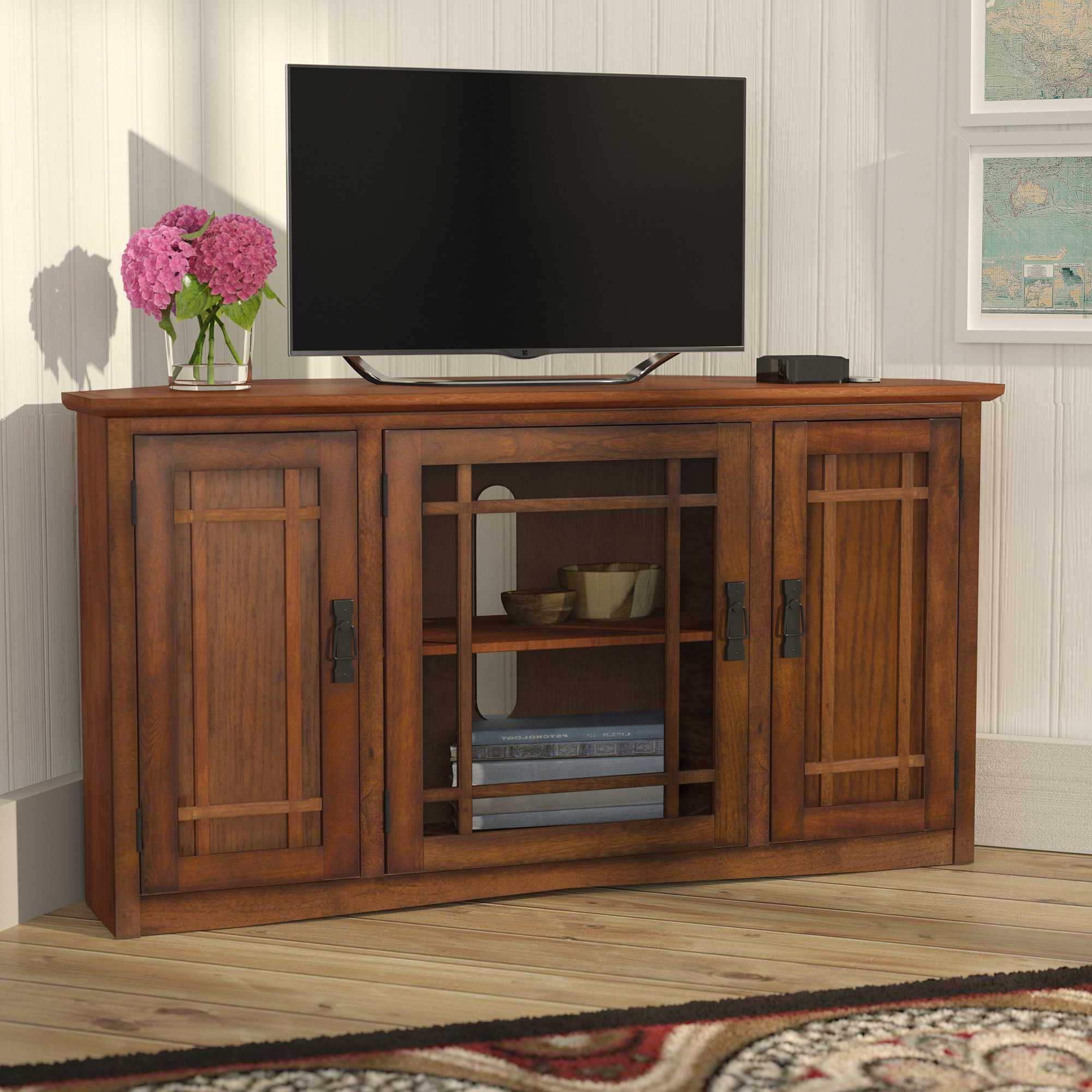 Modern Corner Tv Stands For Flat Screens Images Also Fabulous Small With Widely Used Tv Stands And Computer Desks (View 18 of 20)