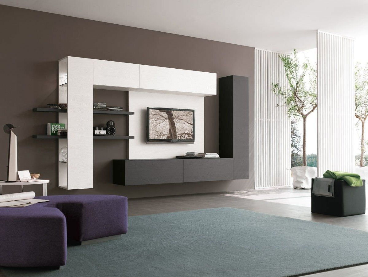 Modern Design Tv Cabinets Regarding Latest 19 Impressive Contemporary Tv Wall Unit Designs For Your Living Room (View 9 of 20)