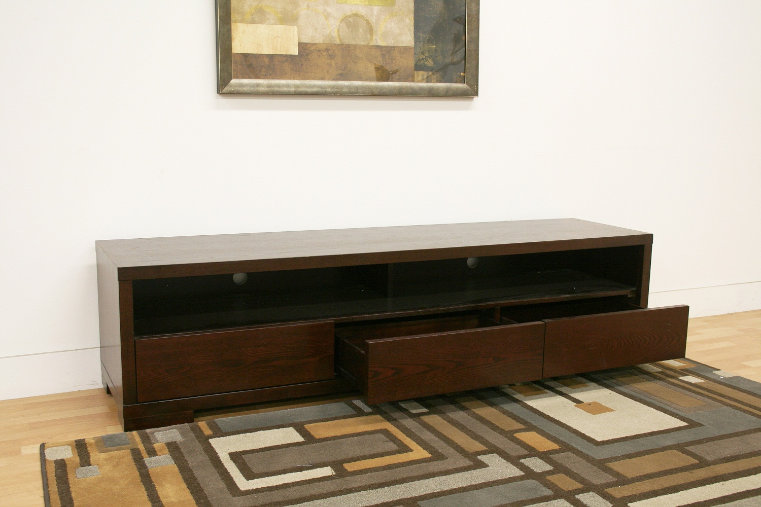 Modern Low Profile Tv Stands In Latest Low Profile Walnut Tv Media Stand With Glass Shelf Philadelphia (View 8 of 20)