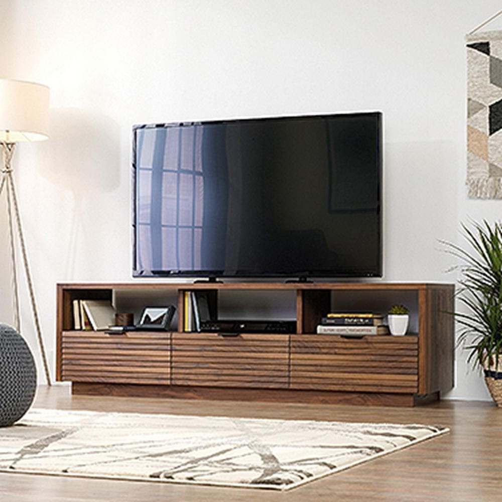 Modern Low Profile Tv Stands Throughout Well Known Mid Century Modern – Tv Stands – Living Room Furniture – The Home Depot (View 20 of 20)