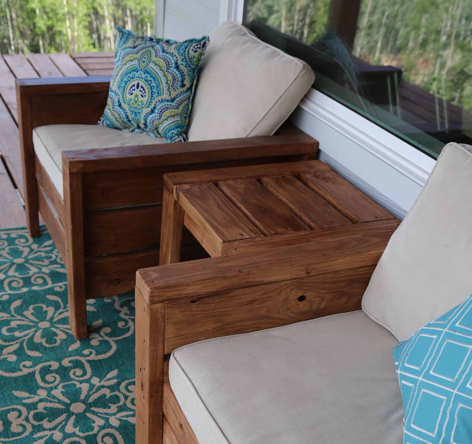 Modern Outdoor Chair From 2x4s And 2x6s – Diy Projects With Regard To Widely Used Chari Media Center Tables (View 5 of 20)