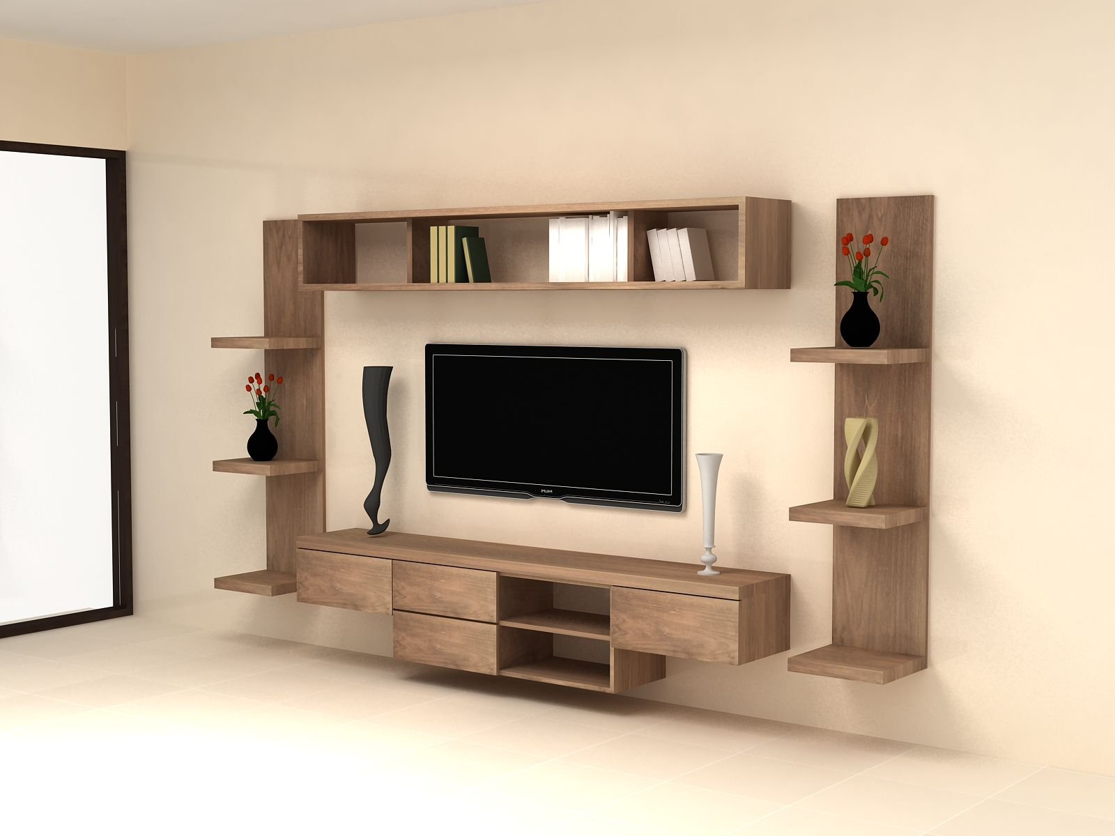 Modern Tv Cabinets Designs Intended For 2017 Wall Hung Tv Cabinet  (View 8 of 20)