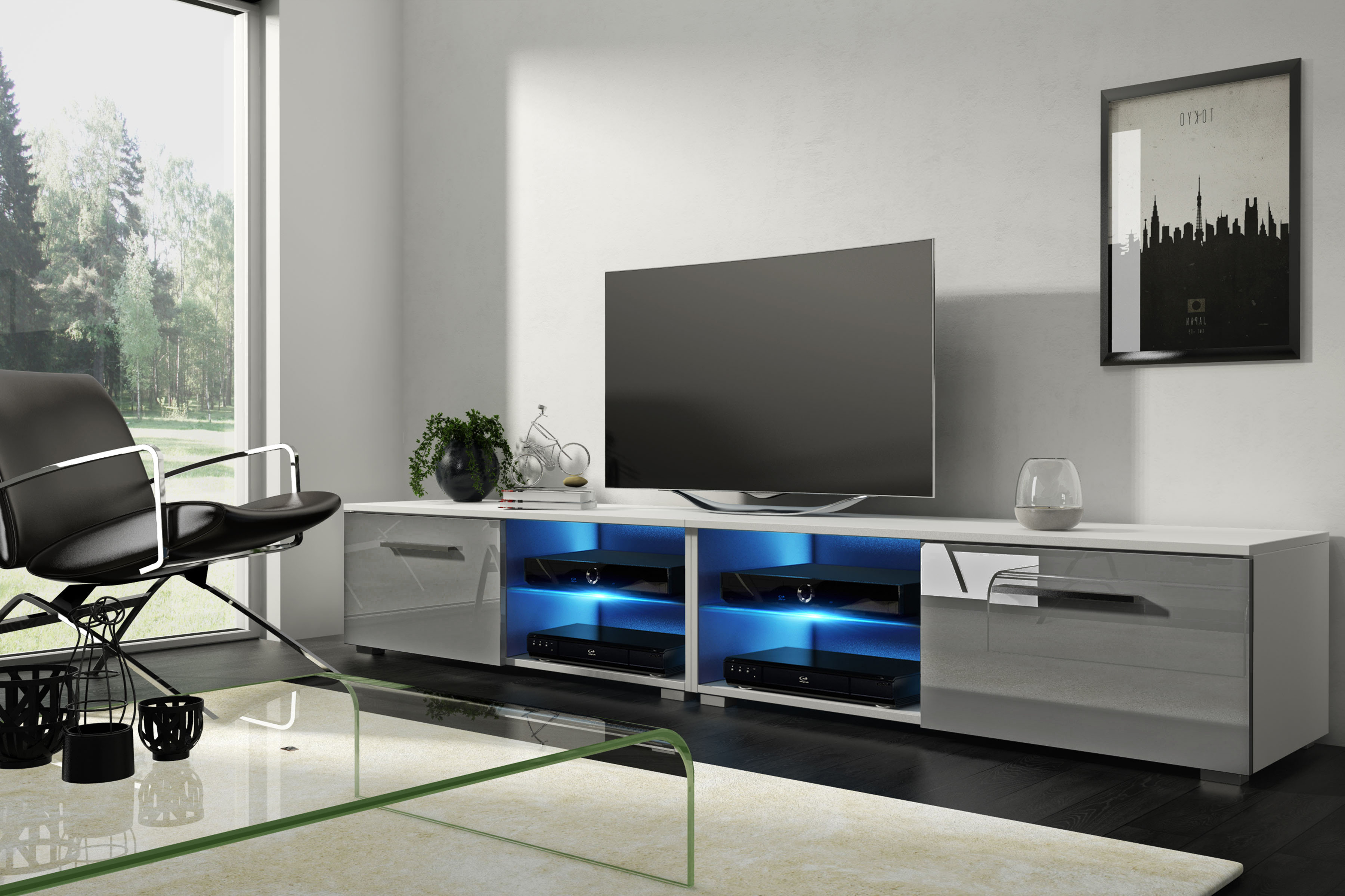 Modern Tv Cabinets For Flat Screens Regarding Most Popular Modern Tv Stands You'll Love (View 8 of 20)