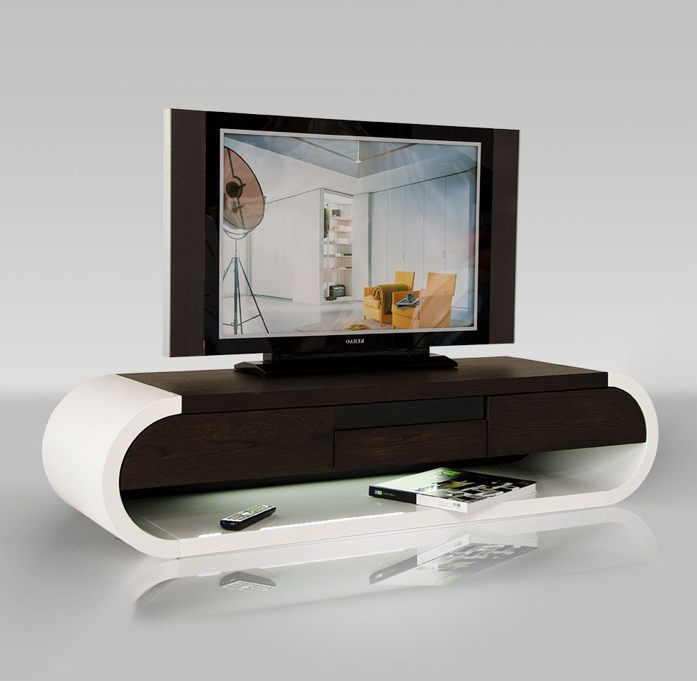 Modern Tv Entertainment Unit With Light (View 14 of 20)