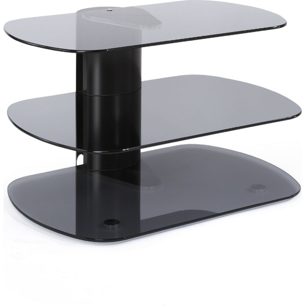 Modern Tv Stand 3 Shelf Glass Platform Display Storage Within Well Known Small Tv Stands (View 10 of 20)