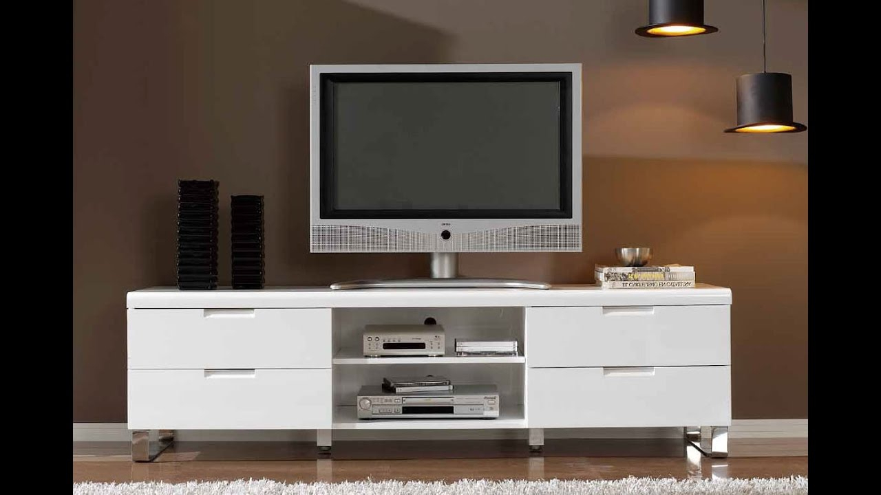Modern Tv Stands For Flat Screens – Youtube With Regard To Trendy Modern Tv Stands For Flat Screens (View 7 of 20)