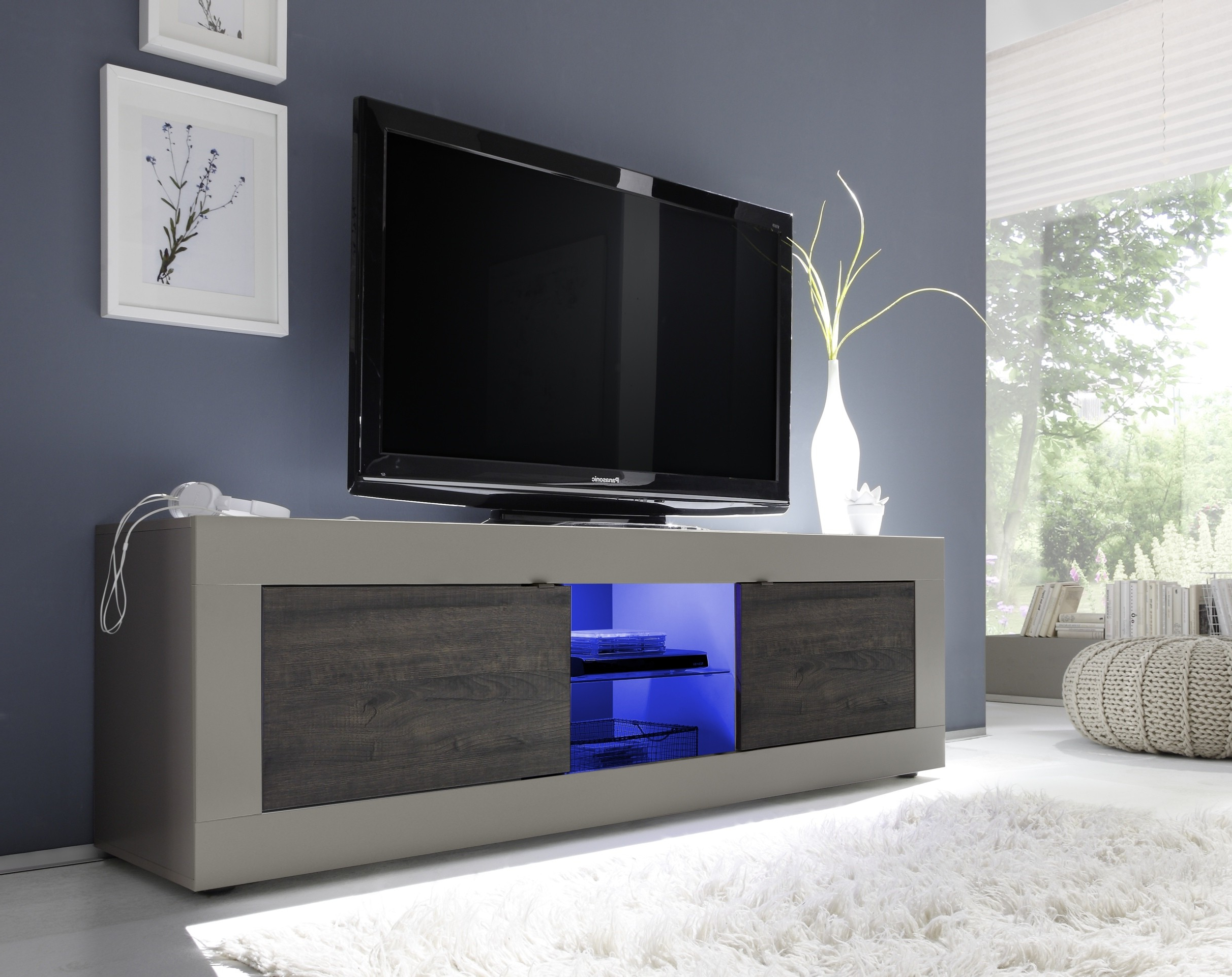 Modern Tv Stands Intended For Preferred Dolcevita Ii Modern Tv Stand In Matt Finish – Tv Stands ( (View 4 of 20)