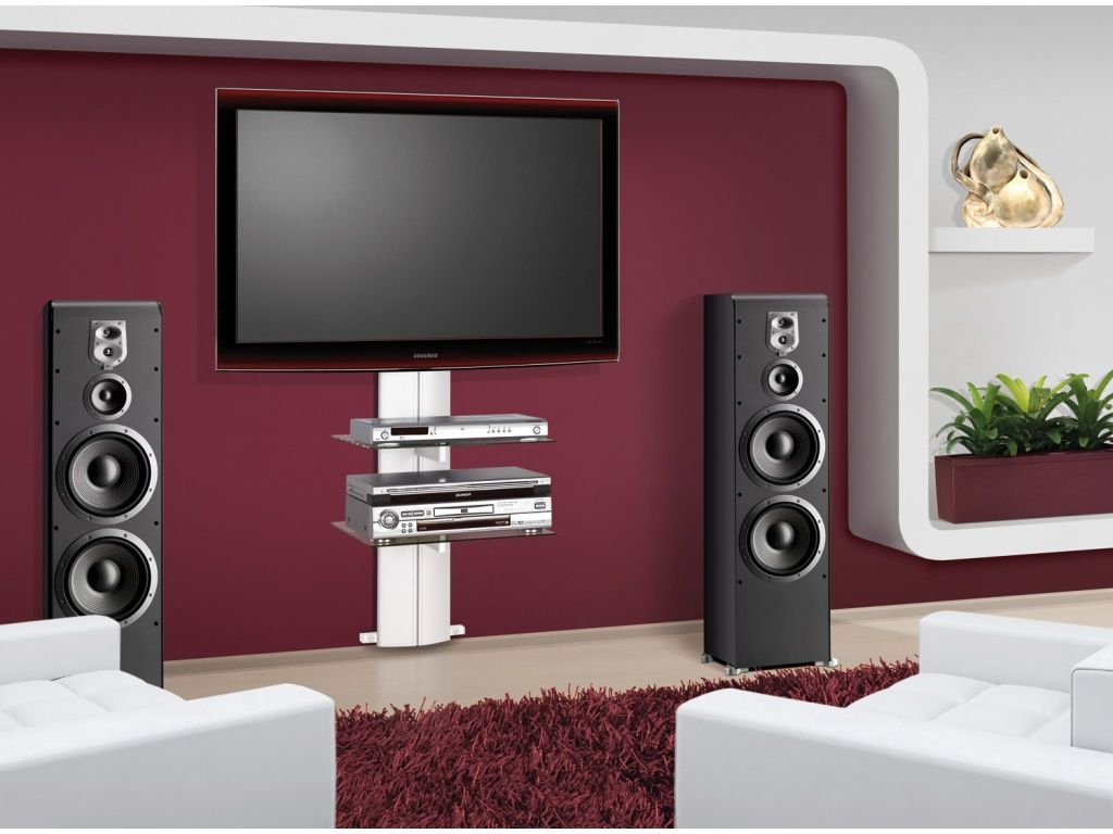 Modern Tv Stands With Mount Inside Best And Newest Modern Tv Stand Wall Mounted Media Console Mount Shelf Shelves For (View 6 of 20)